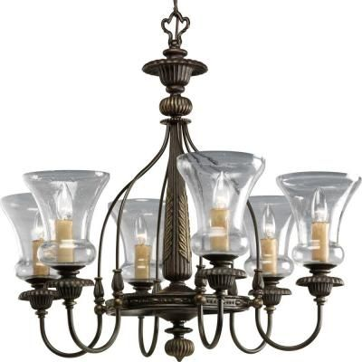 progress lighting fiorentino collection forged bronze. progress lighting fiorentino collection 6-light forged bronze chandelier-p4409-77 at the i