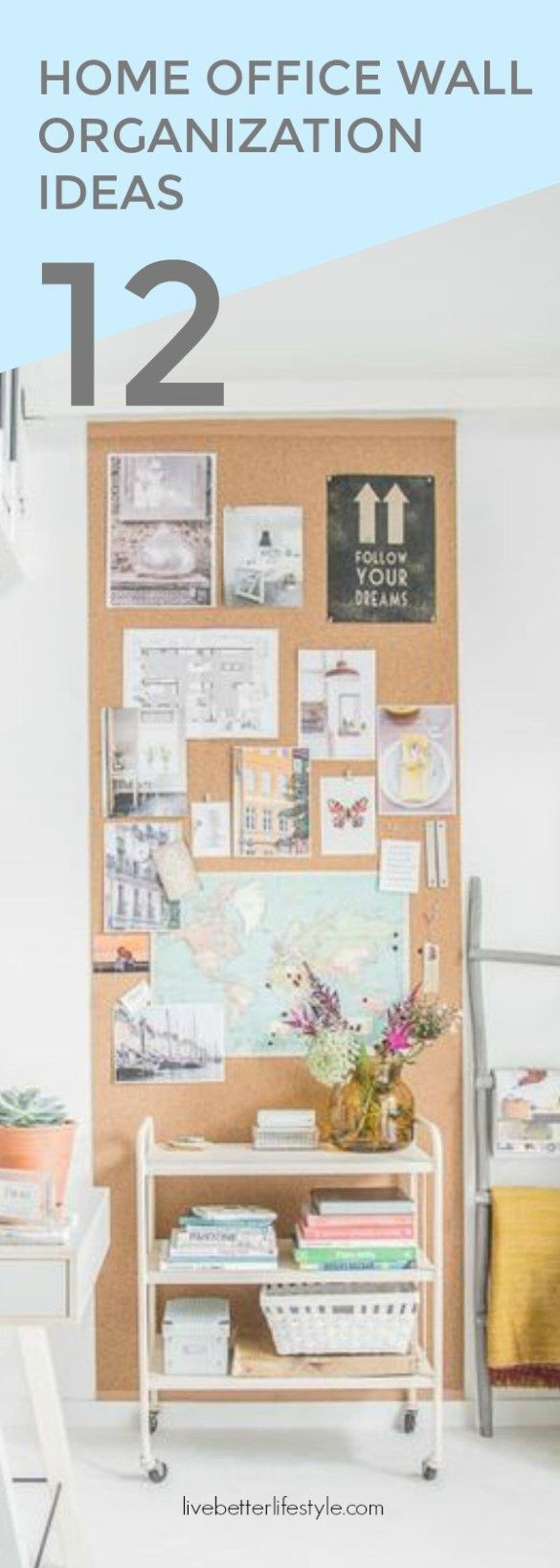 12 Brilliant Home Office Wall Organization Ideas Pinterest