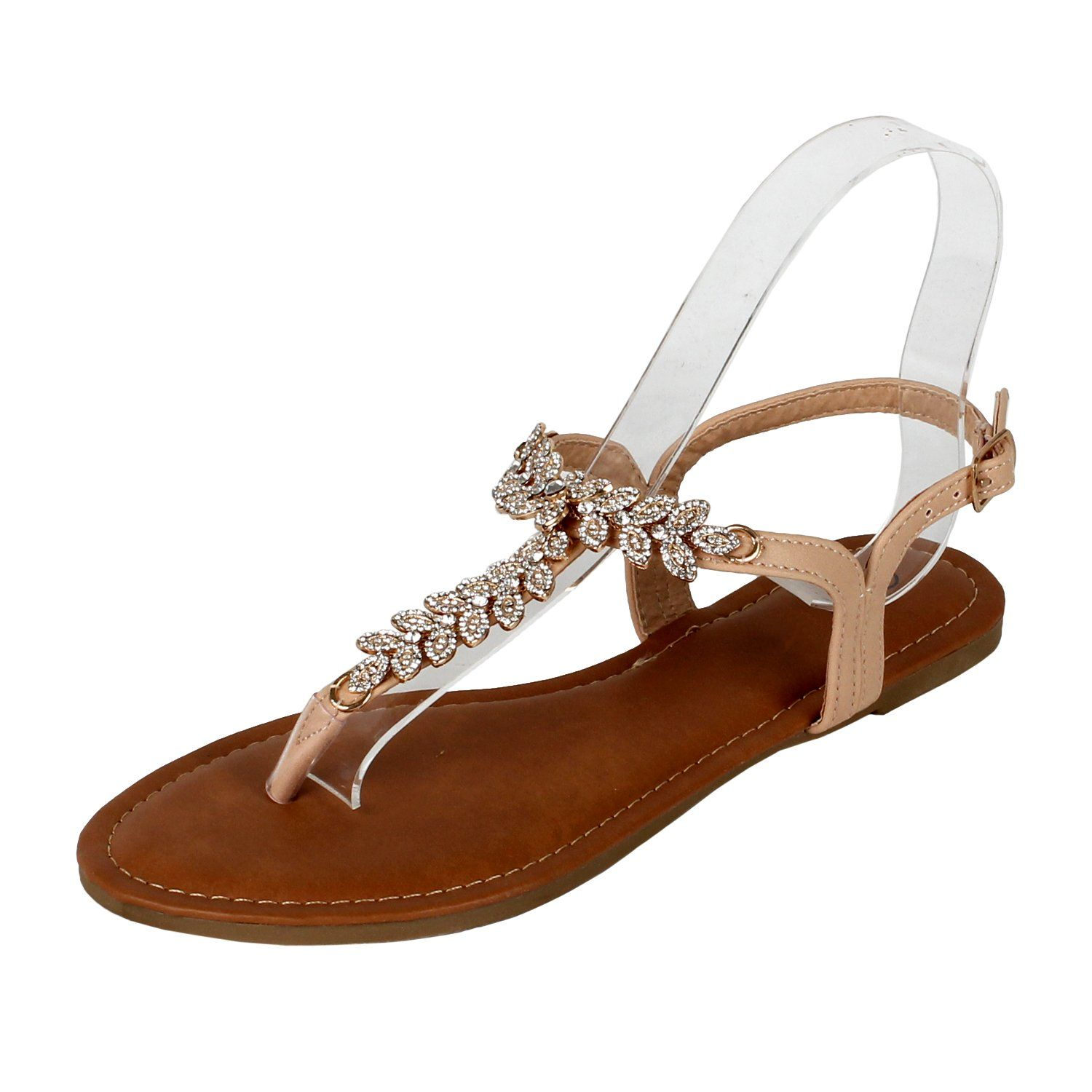 7cace249442a Guilty Shoes Rhinestone Sparkle Women S Sling Back Spring Summer Casual  Thong Flat Sandal Sandals -- Read more at the image link.