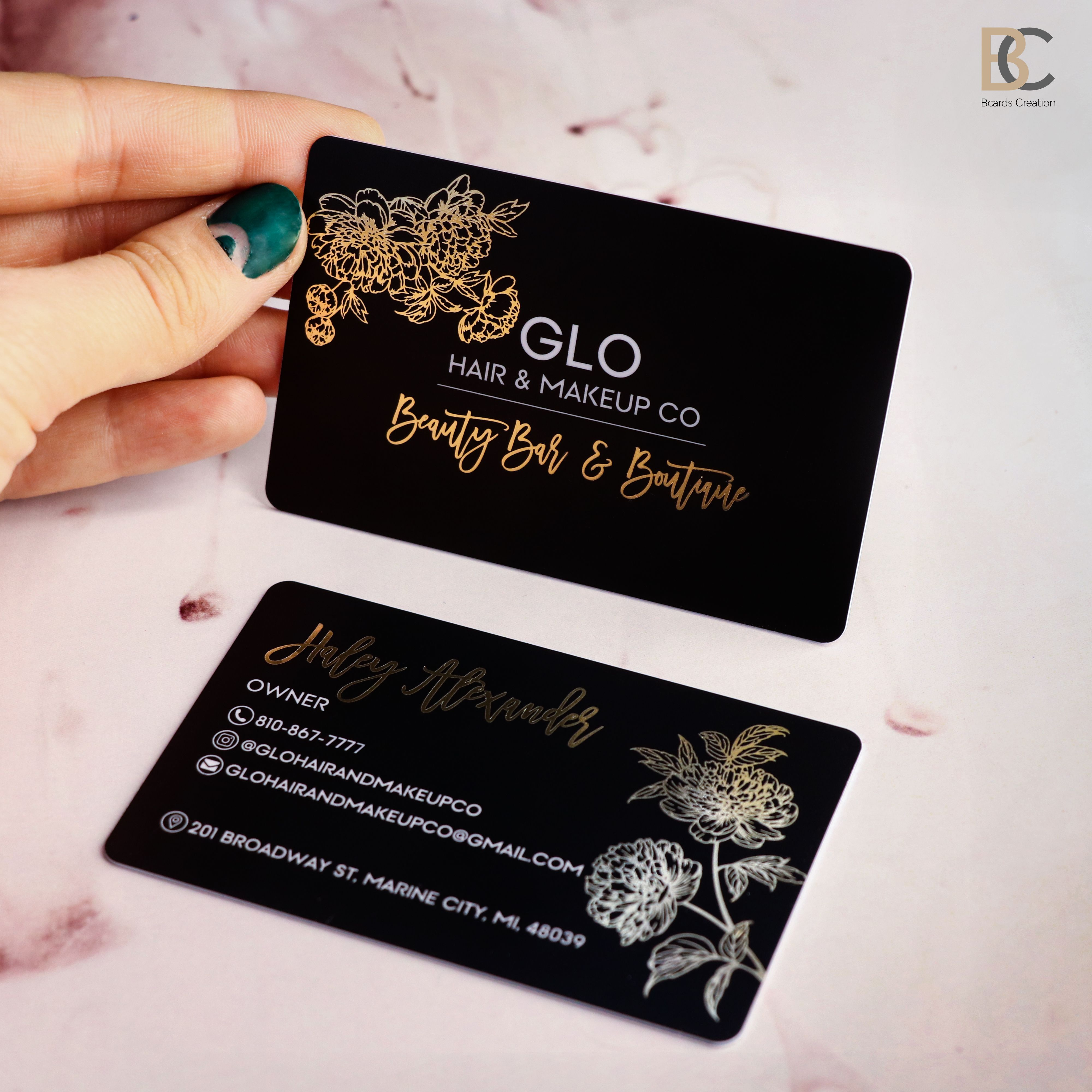 Black Frosted Plastic Card 1 3 Foils Full Color Printing Etsy Plastic Business Cards Free Business Card Design Plastic Card