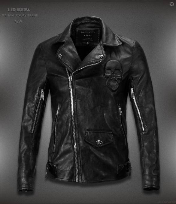 cb2694bb30 High Quality Replica of Philipp plein Mens leather Jackets Online Outlet