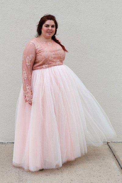 f096f202 Plus Size Clothing for Women - Society+ Premium Tutu - Long Blush (Sizes 1X  - 5X) - Society+ - Society Plus - Buy Online Now! - 1