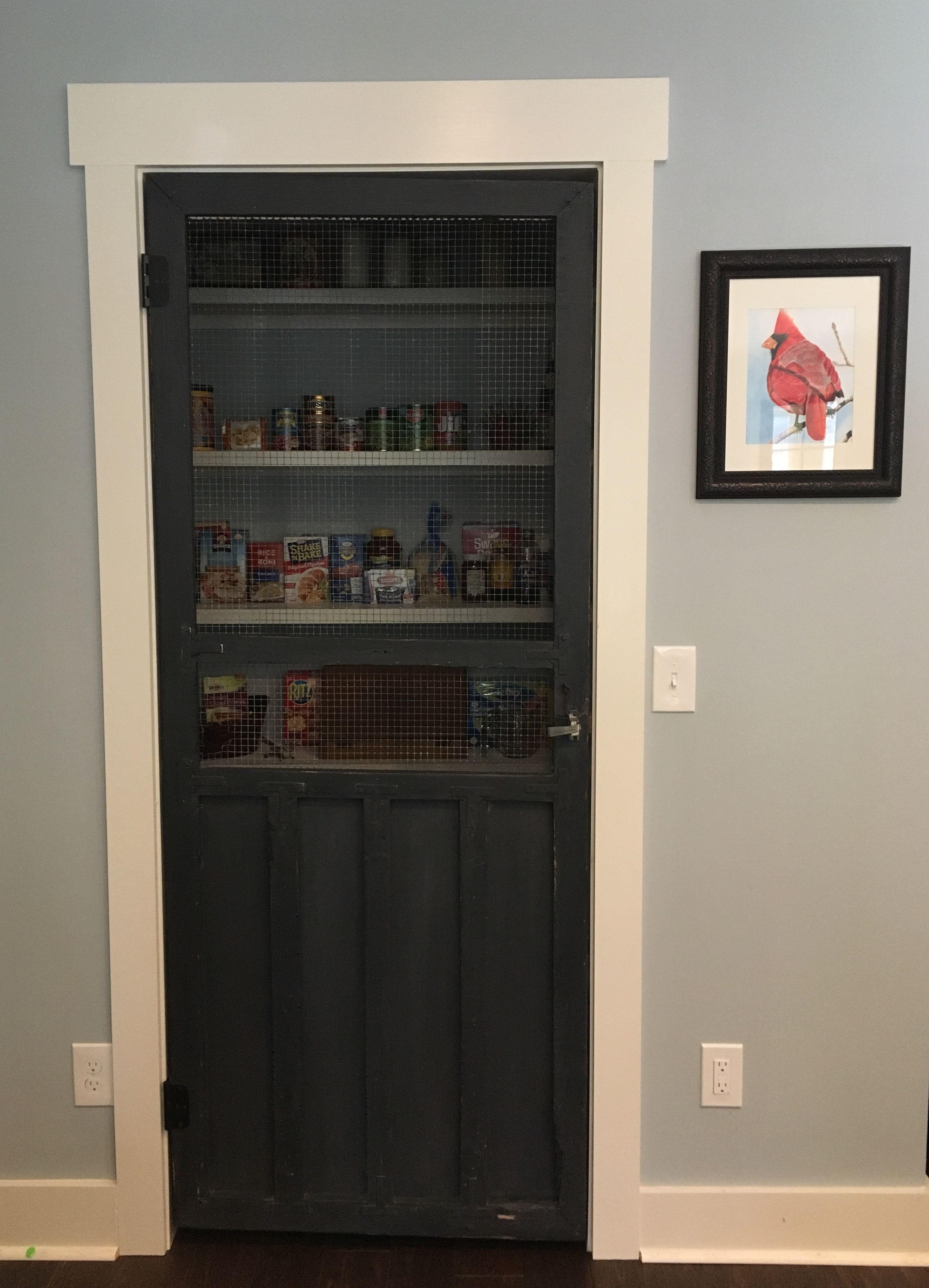 My grandparents  1930s screen door used as my pantry door ❤  5305288d3