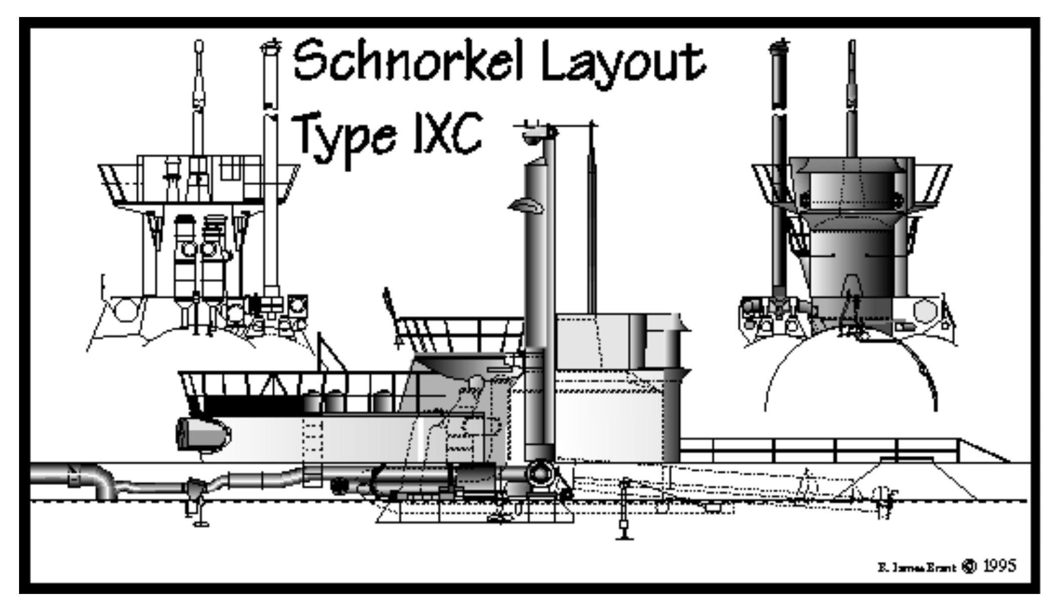 Schnorchel On Type Ixc Submarines