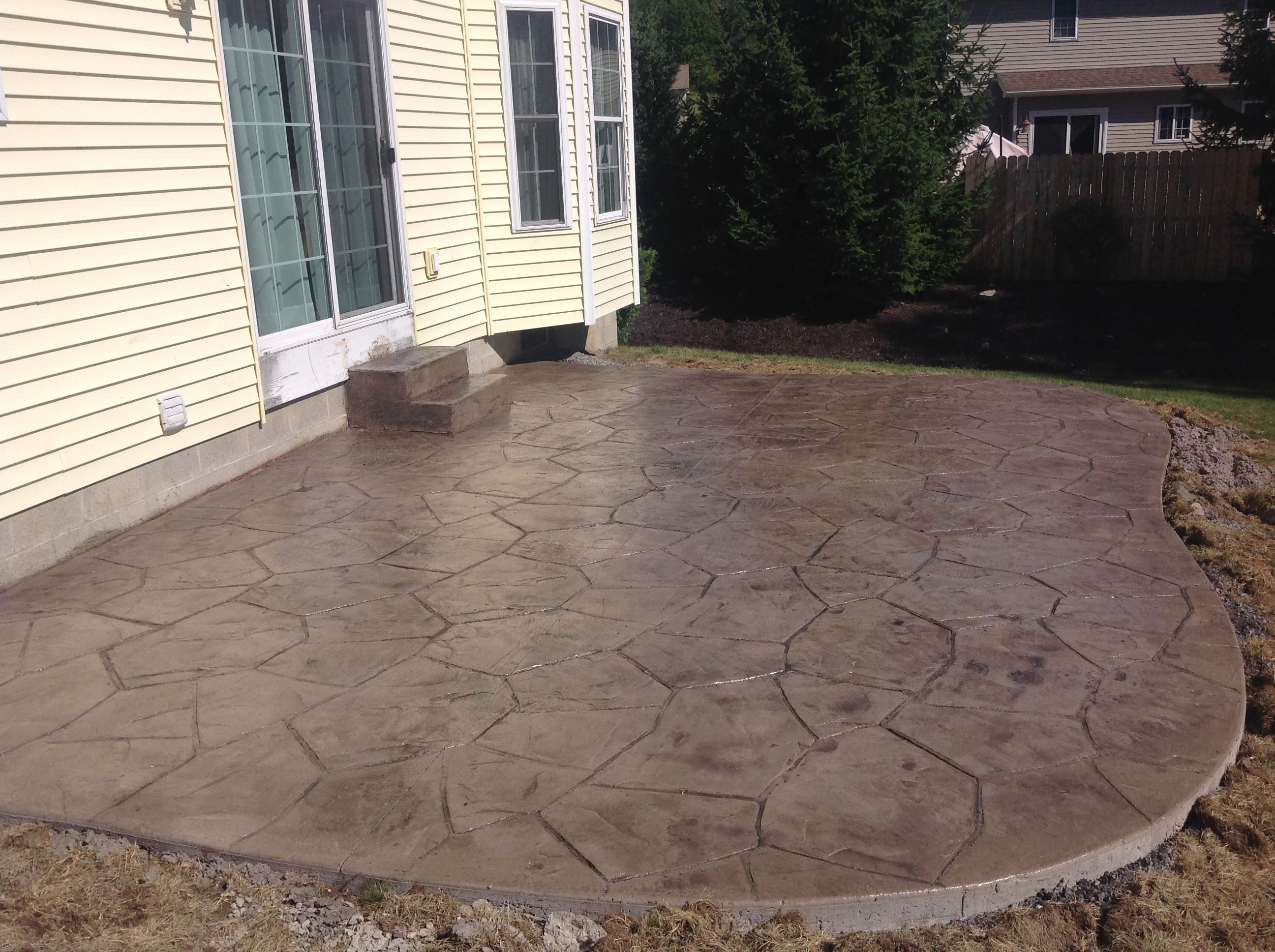 Orchard Stone Stamped Concrete Patio In Genesseo Ny, Conesus Lake Ny