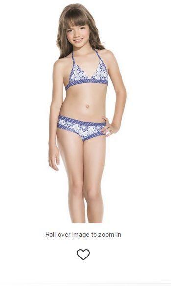 26f93c84579e NWT Ondademar Girls size 8 16 Mosaic White blue Bikini Set  OndadeMar   BikiniSet