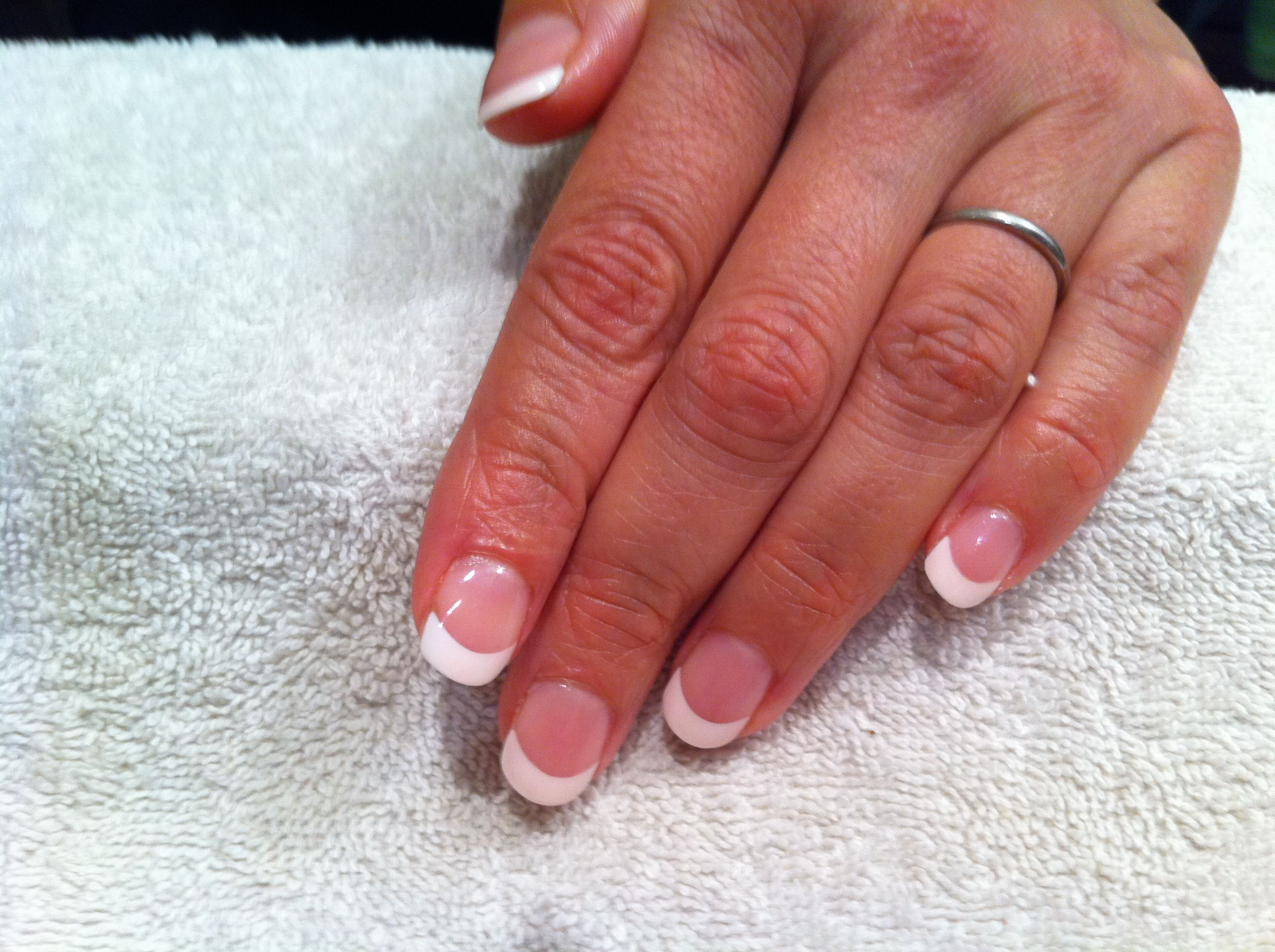 French manicure with dashing diva tips, shellac polish. £29 at ...