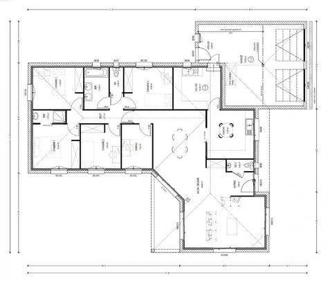 Plan Achat Maison Neuve A Construire Logis Du Marais Poitevin Avant Projet Fougere 140 M2 4 Chambres Plan Maison Maison 4 Chambres Plan Maison 4 Chambres