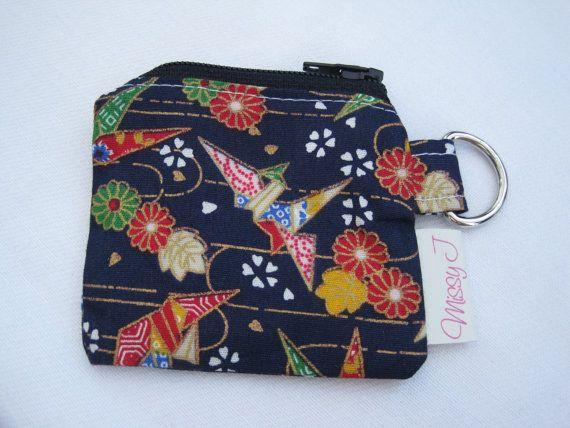 Asian silk coin purse