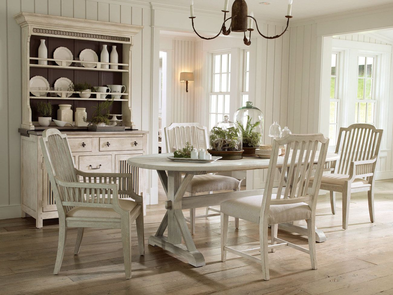Fontaine5Pcs Country Cottage White Oval Dining Room Table Chairs Gorgeous Oval Dining Room Table And Chairs Design Ideas