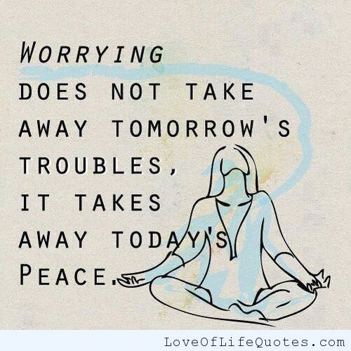 What Worrying Does