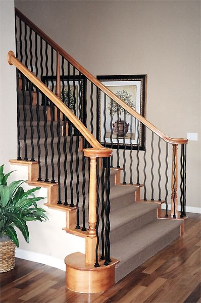 Best Stairway 27 Features Li Wave44 Iron Balusters With Li 400 x 300