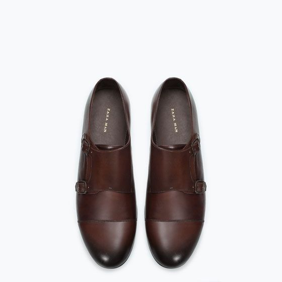 73cab9ee ZARA - MAN - LEATHER MONK STRAP SHOE   I need this. in 2019   Monk ...