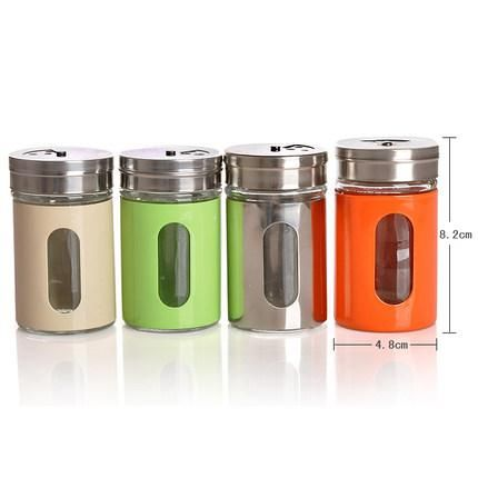 Multicolour Stainless Steel Spice Glass Jar   #Buy #New #Trend #Discount #Hot #Sale