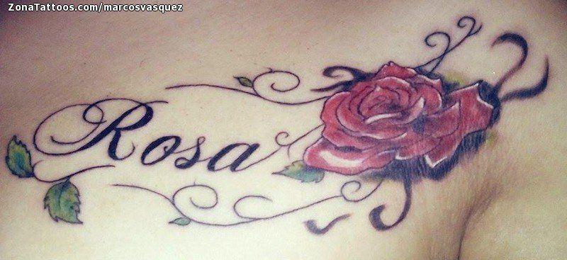 Tatuaje De Rosa Nombres Letras Zonatattoos Com Nombre Rosa Rosas Con Nombres Tatuaje De Rosa