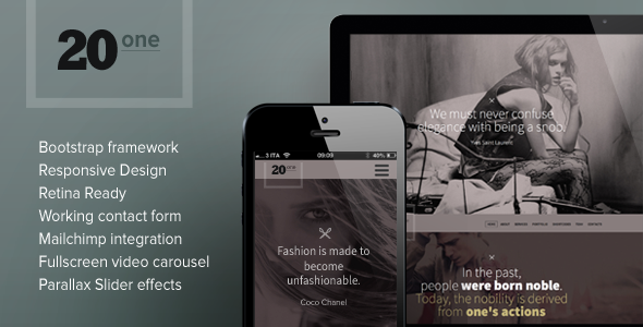 See More 20one Onepage Responsive Multi Purpose Themewe are given ...