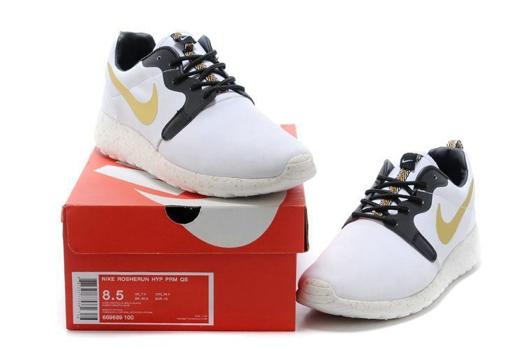 65faadf7bed0 2018 Factory Authentic Mens Nike Roshe Run Hyperfuse 3M 669689 100 Yeezy  White Gold Black