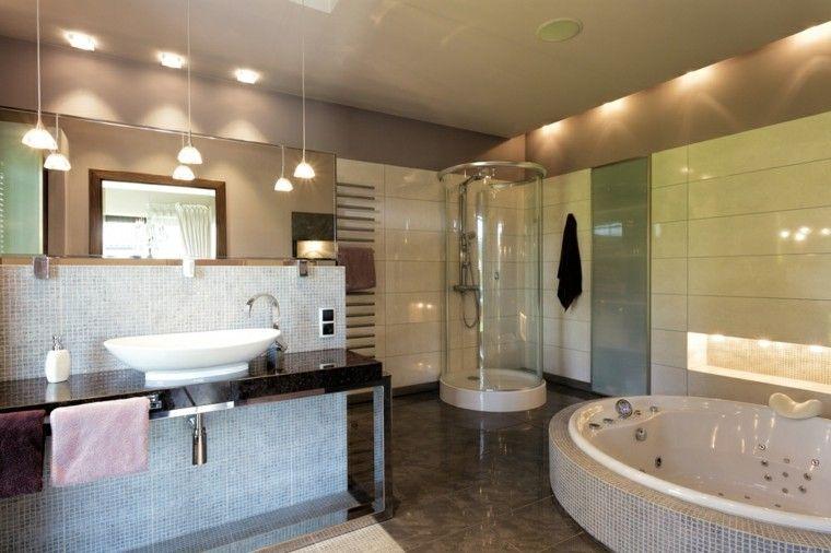 Baos modernos con ducha 50 diseos impresionantes Pinterest