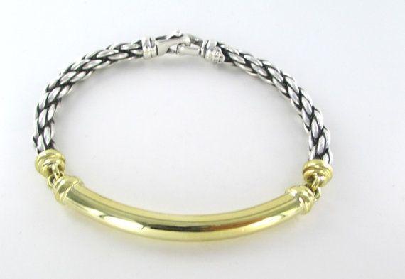 14 karat yellow gold & sterling silver by MorningstarsJewelers