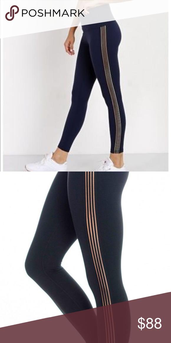 6b1bde3518 Beyond Yoga Women's Sheer Illusion leggings Super soft, beautiful dark  blue. Size M Sheer panels on either side. Beyond Yoga Pants Leggings
