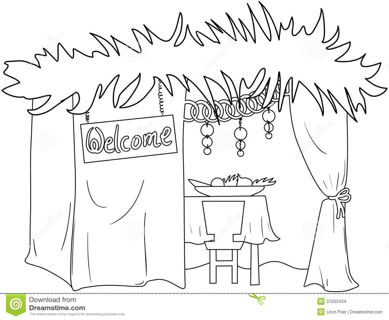 Sukkot Coloring Page Coloring Pages Sukkot Detailed Coloring Pages