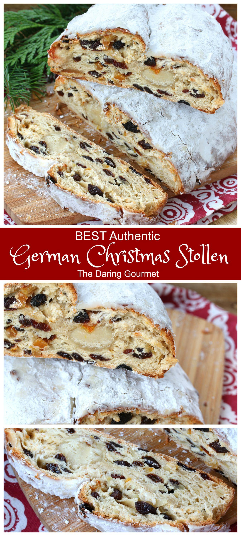 Christmas Bread.Best Authentic Stollen German Christmas Bread
