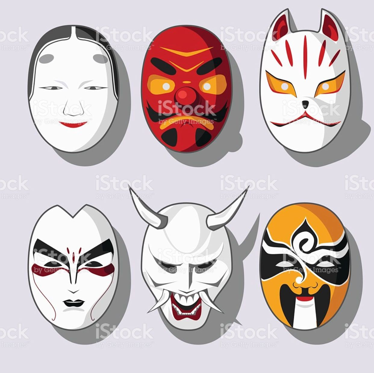Pin by Larry Best on Rpg Japanese mask, Royalty free
