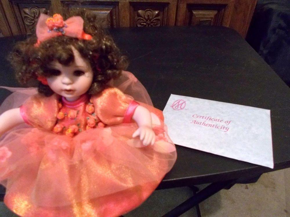 Marie Osmond Tiny Tots Remember Me Rosebud Doll COA + Necklace  #MarieOsmond #DollswithClothingAccessories