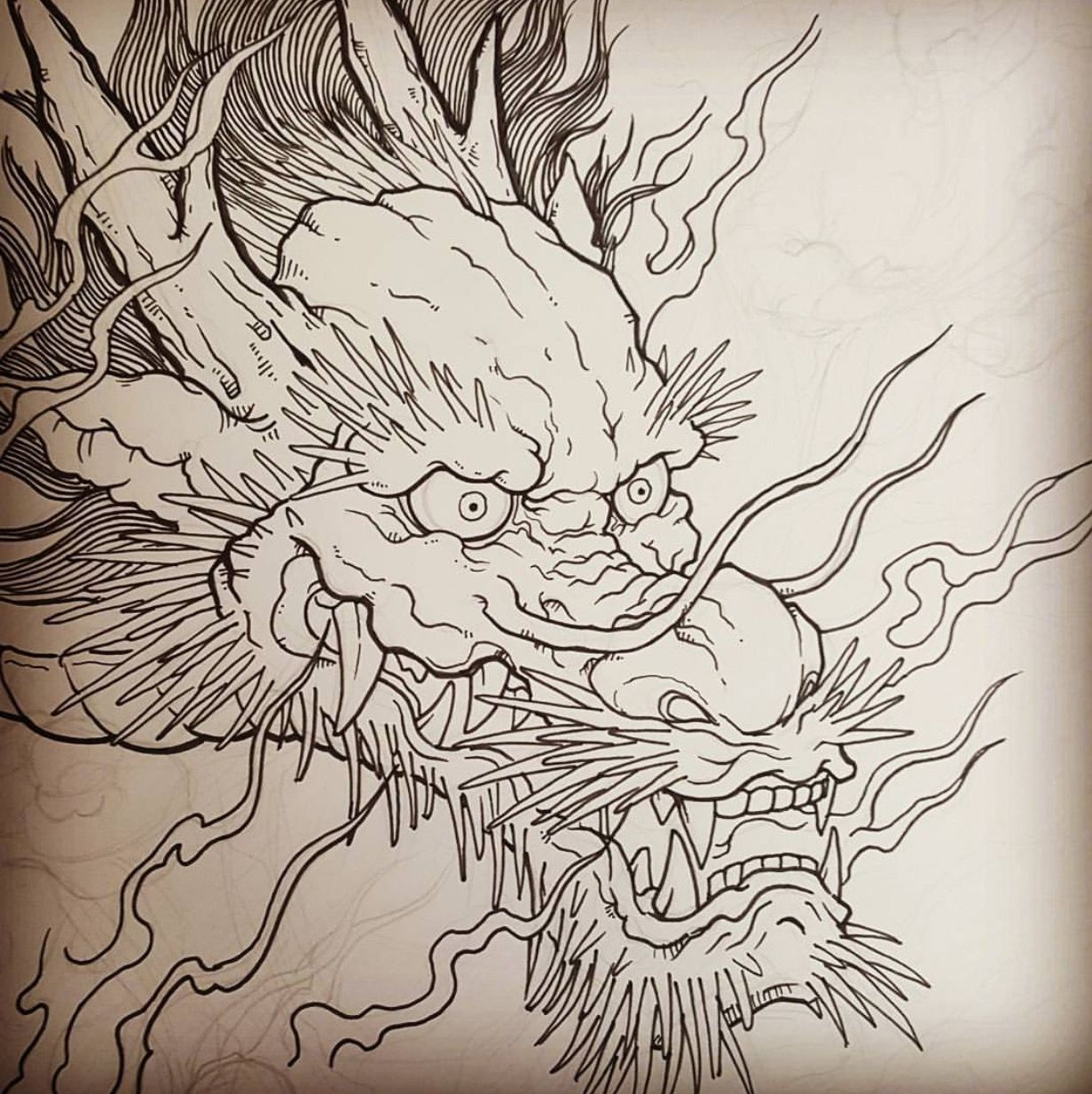 Asian dragon tatoos join in?
