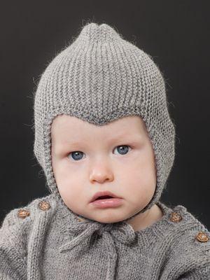 Neulottu vauvan myssy Novita Nalle   Novita knits