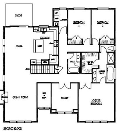 COTTONWOOD Second Floor is the Main Living space in this ...
