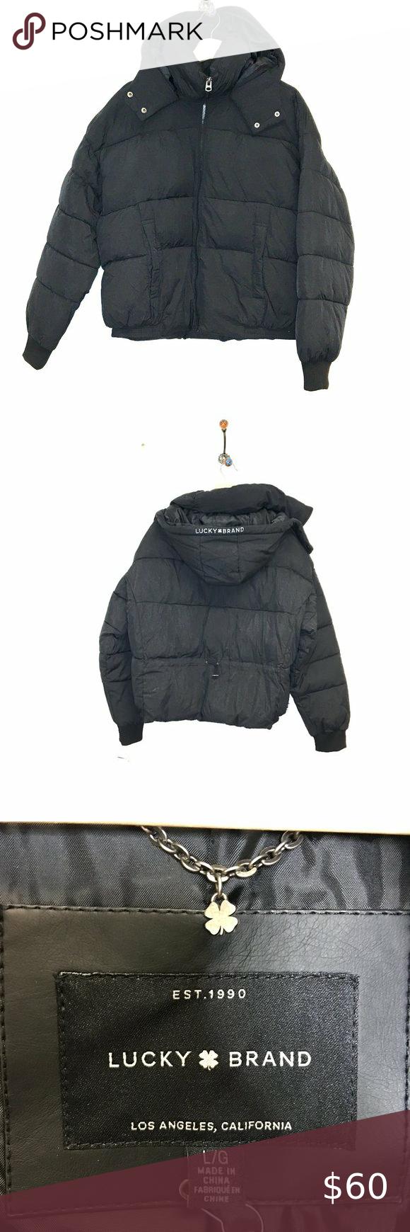 Nwt Black Lucky Brand Missy Short Puffer Jacket L Size L Large Color Black Specifics Shorter Length Sli Short Puffer Jacket Lucky Brand Puffer Jacket Black [ 1740 x 580 Pixel ]