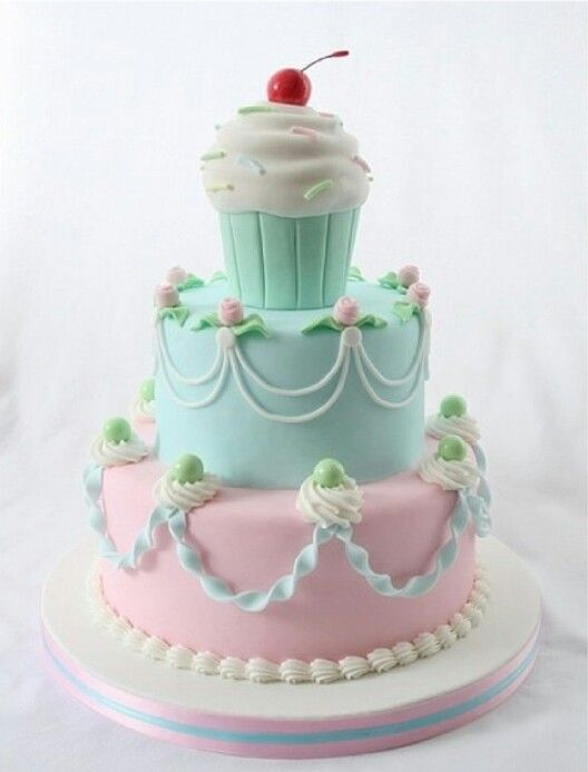 Beautiful Girls Birthday Cake Cake Decorating Ideas Pinterest