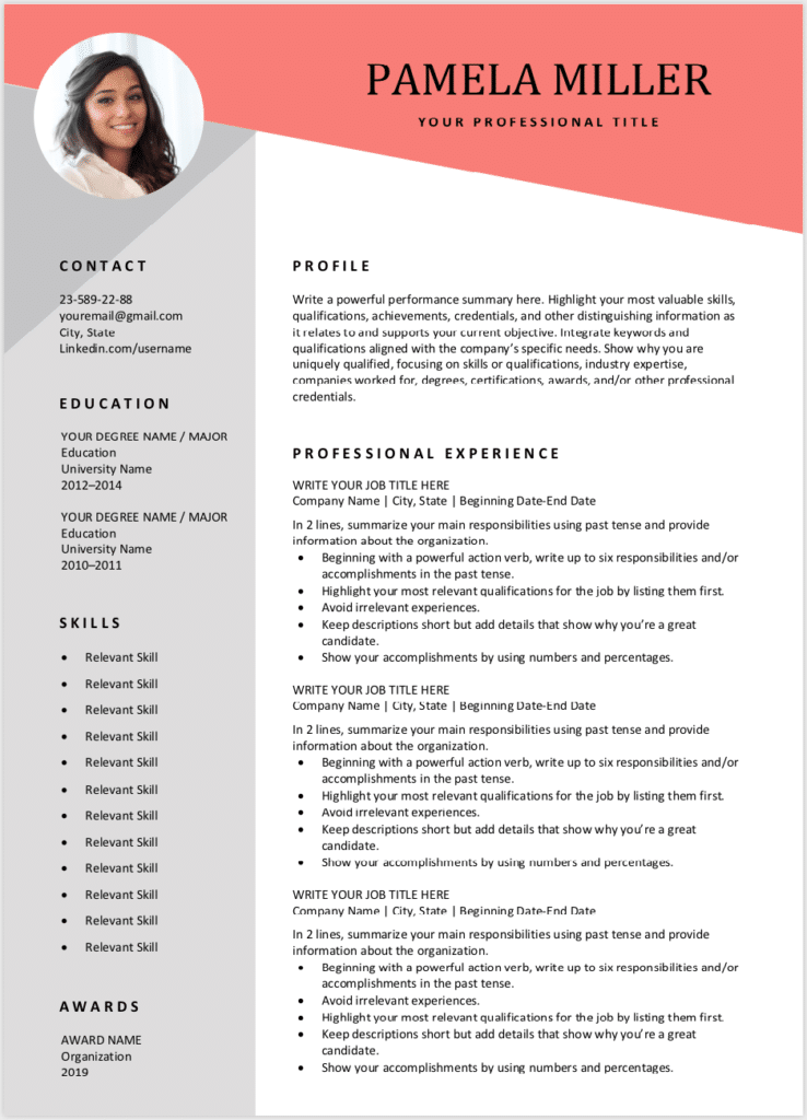 Are you looking for a free, downloadable resume template