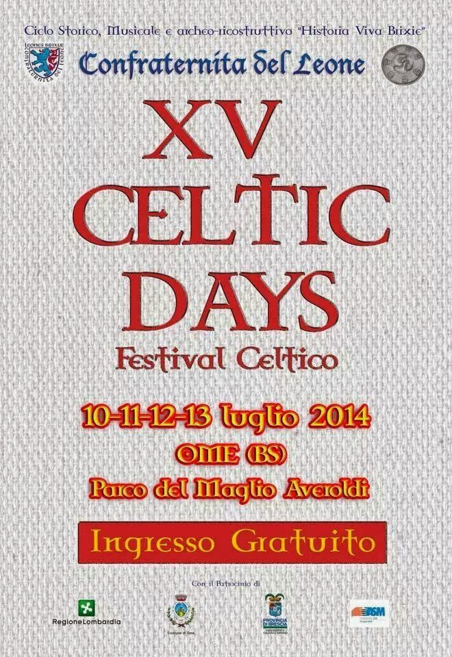 Iseo & Franciacorta News : OME 10-11-12-13 luglio 2014 XV CELTIC DAYS – i dé ...