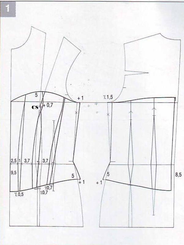 modelo de corpiño, patrón de papel cerca del corsé