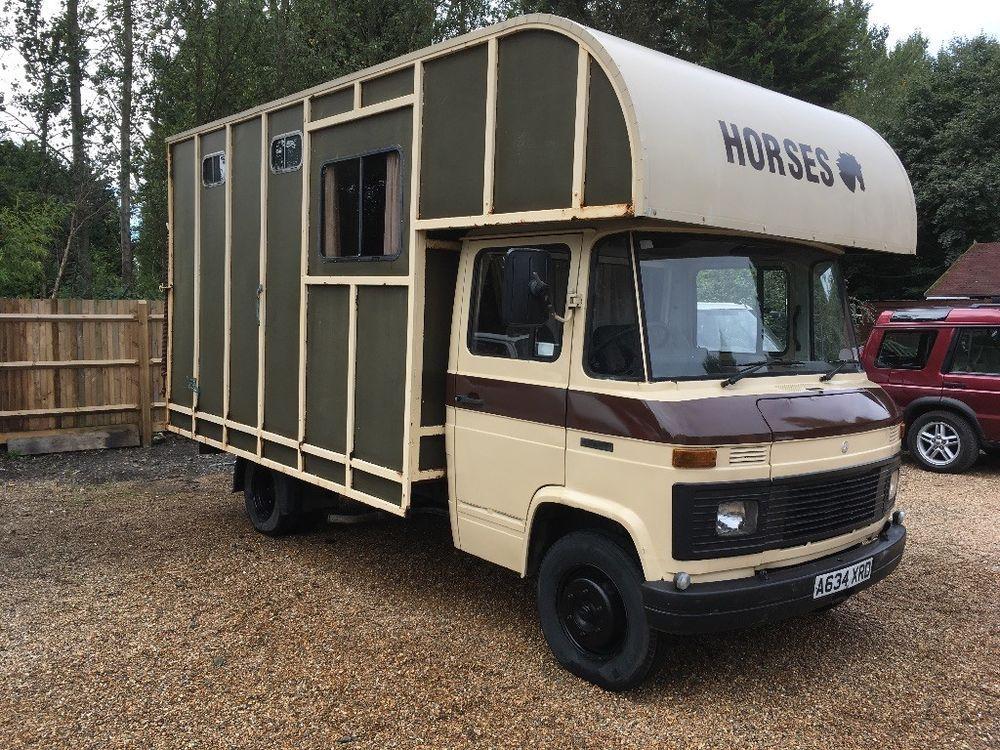 4db237b937 eBay  mercedes Benz 508D horse box lorry Classic truck van