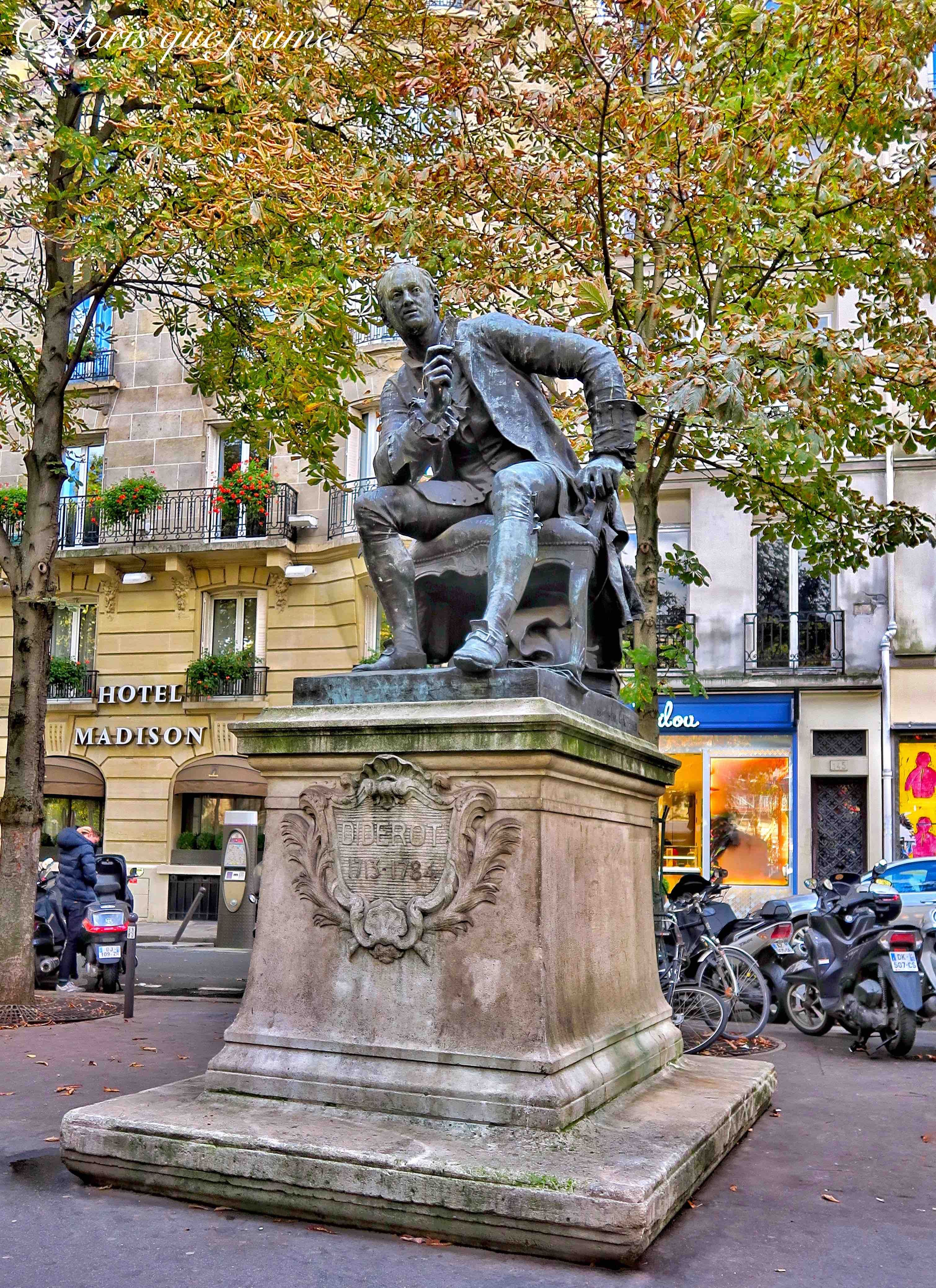 Statue De Diderot Boulevard Saint Germain 75006 Paris Paris Place Paris France I Love Paris