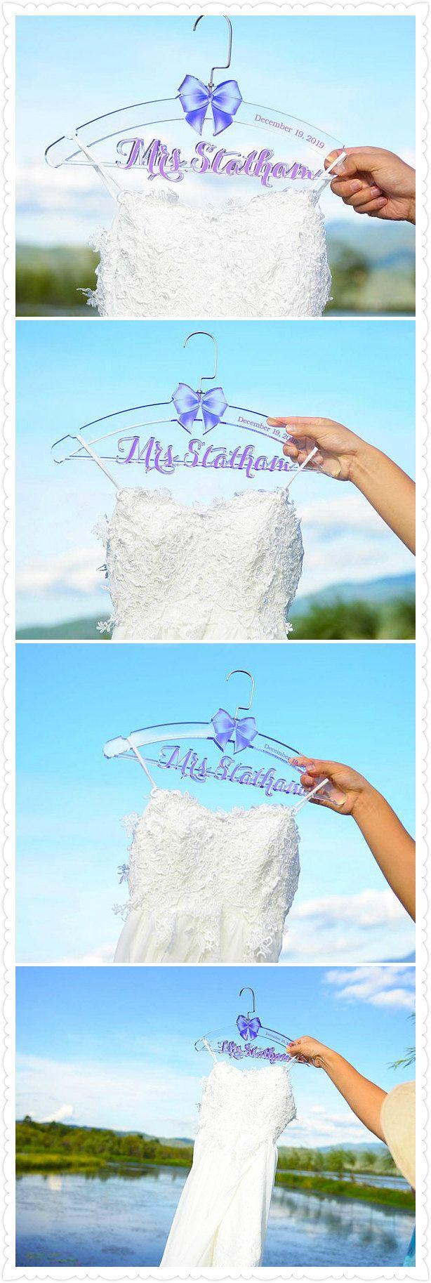 Bridal Shower Gift, Personalized Wedding Hanger, Bridal Hanger ...