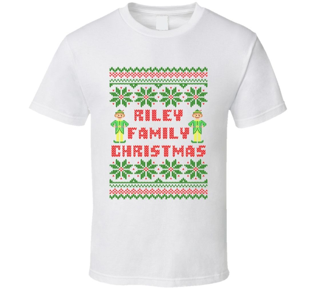 Youth Riley Family Christmas Ugly Sweater T-Shirt