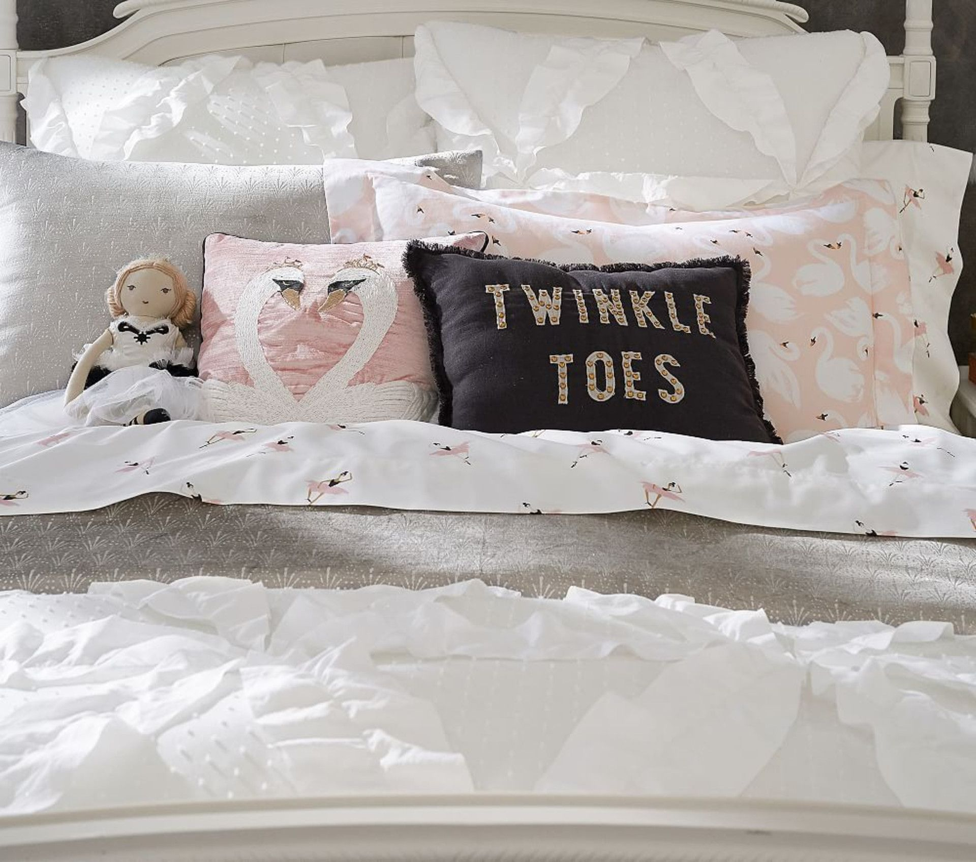 The Emily & Meritt Twinkle Toes Cushion Pottery Barn