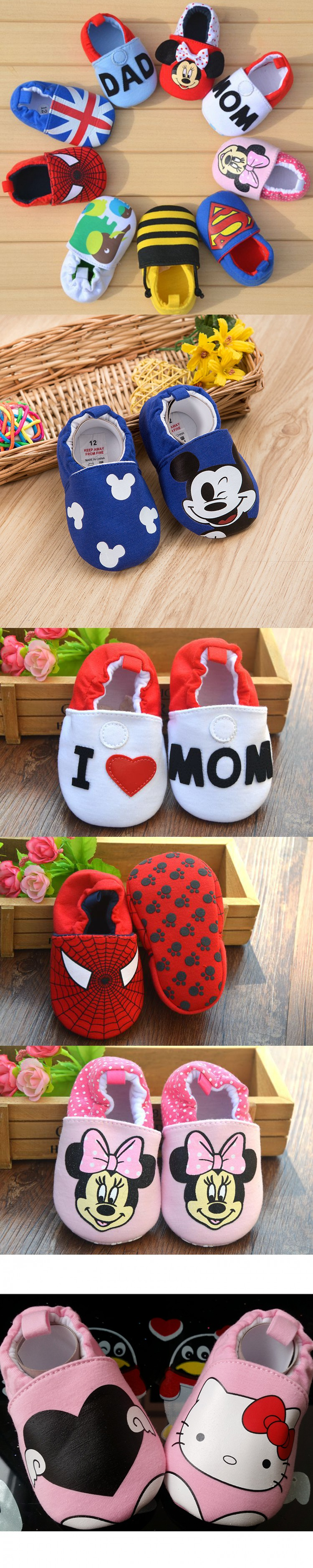 Baby Newborn Shoes Slip Kids Shoes Cartoon Prewalker Soft Bottom Bebe Infant Shoes First Walkers Fashion Shoes