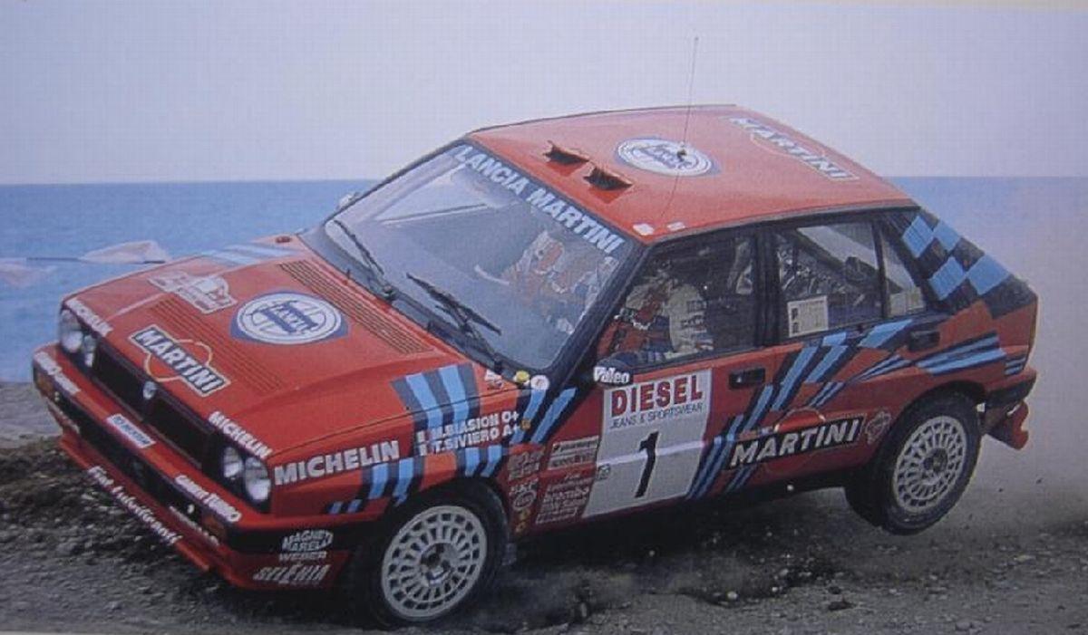 San Remo 1989 Biasion Miki Siviero Tiziano icon Lancia