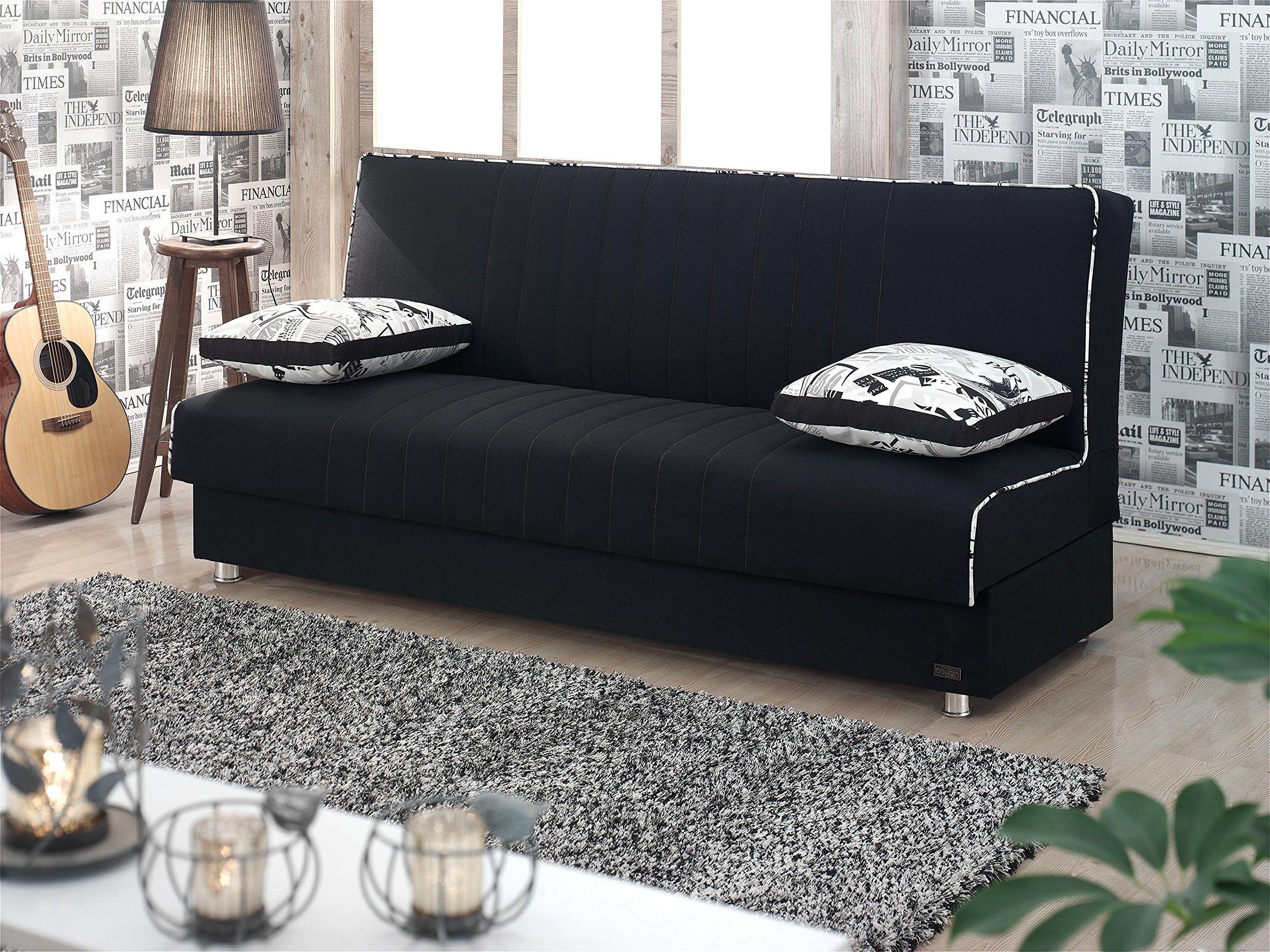 BEYAN Kentucky Collection Modern Armless Convertible Sofa