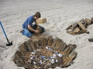 Pit Firing ceramics at the Beach | Clay Inspirations ...