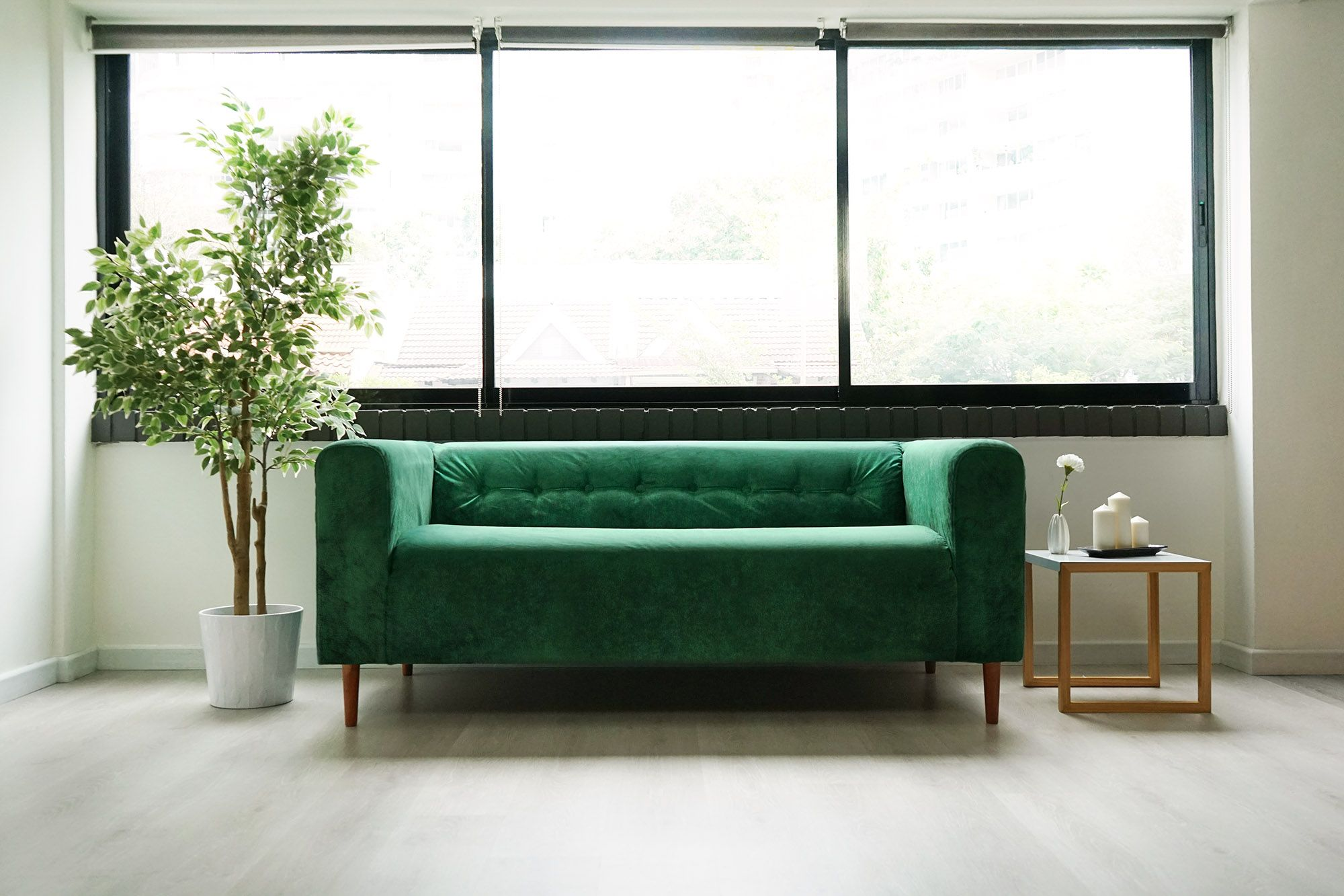 Tufting Klippan Hack Be Emerald Green With Envy Ikea Klippan Sofa Ikea Sofa Diy Sofa Cover