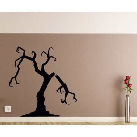 Free Shipping Buy Halloween Scary Tree Decor Wall Decal - Vinyl - halloween decorated cars