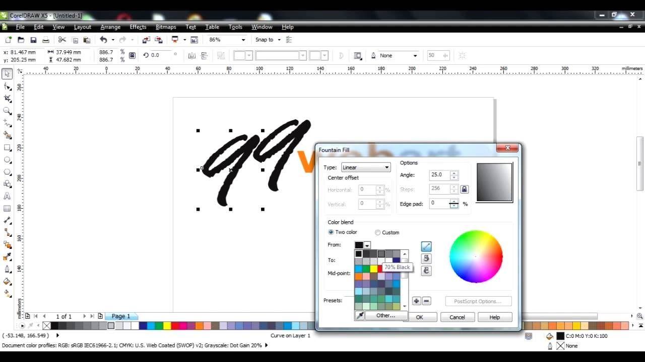 Coreldraw vector graphics - Coreldraw Vector Artwork Drawings Tutorials L0001 Convert Font To Logo