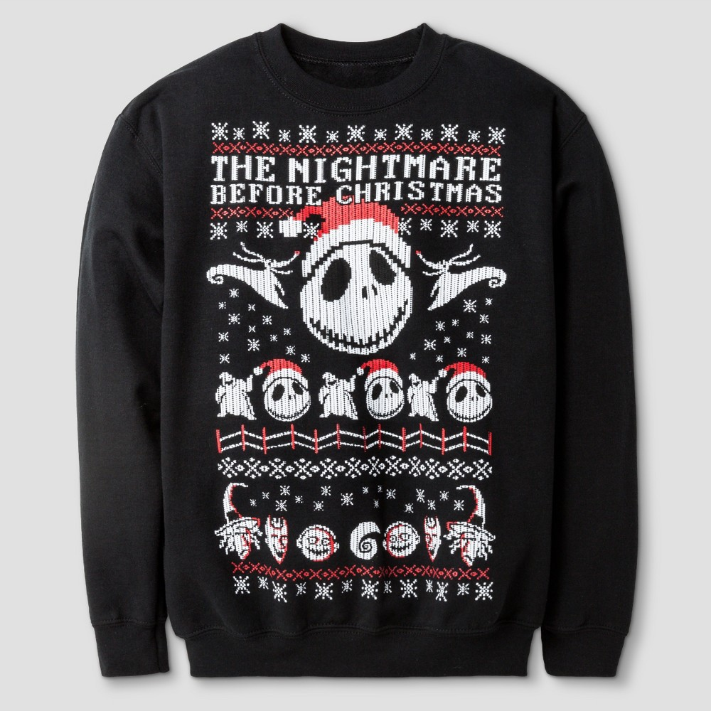 Boys\' The Nightmare Before Christmas Sweatshirt Disney - Black M ...