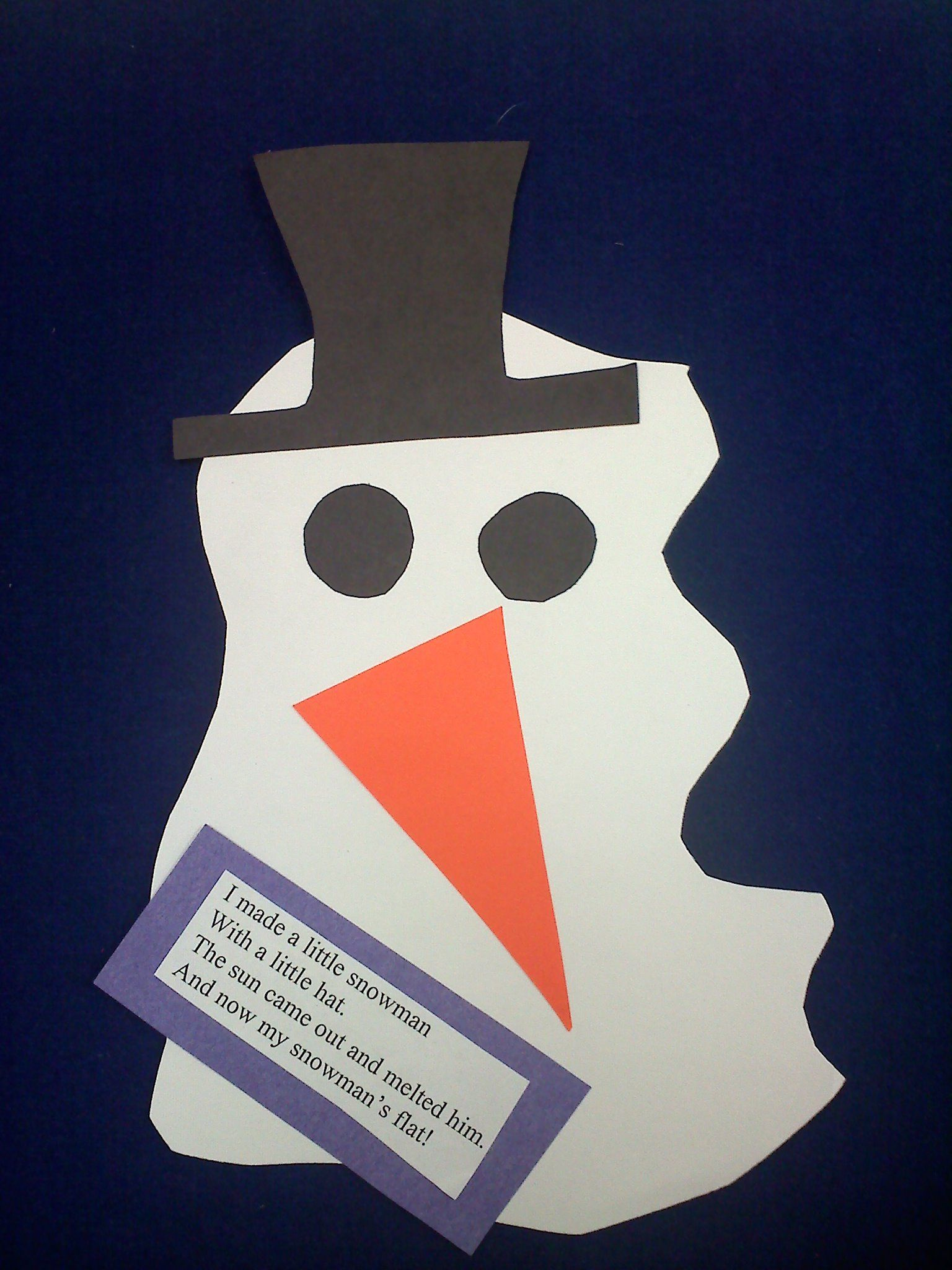 Melted Snowman Craft Kindergarten In 2018 Pinterest Snowman